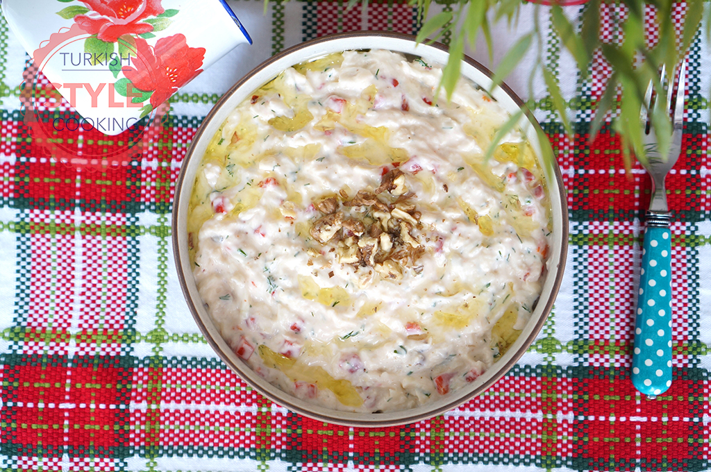 Celery and Red Pepper Salad With Yoghurt Recipe