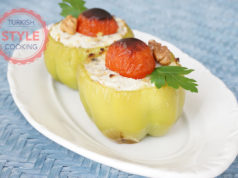 Feta Cheese Stuffed Bell Pepper