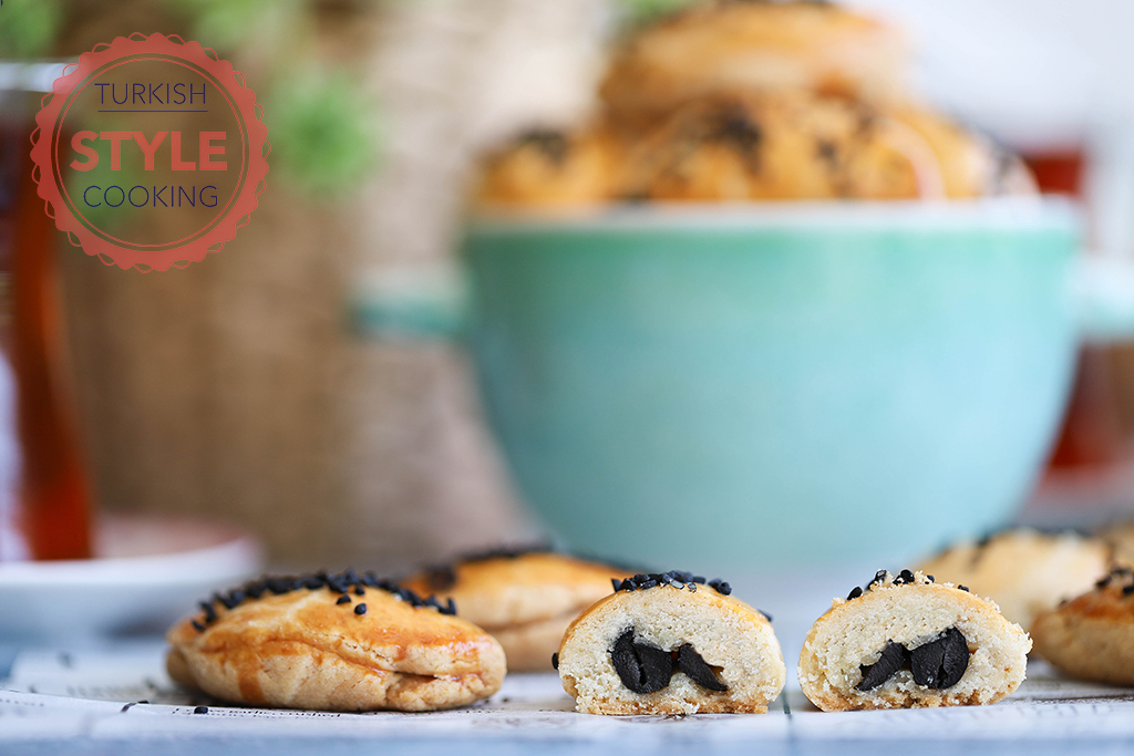Olive Paste Filled Savory Cookies Recipe
