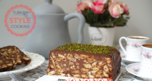 Chocolate Sauce Mosaic Biscuit Cake Recipe