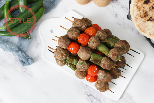 Baked Shish Kofta (Meatball Skewers) Recipe