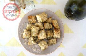Dried Mint Crutons Recipe