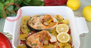 Baked Vegetable Salmon Recipe