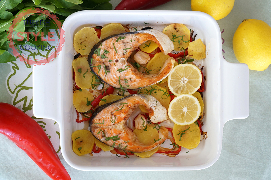 Baked Vegetable Salmon Recipe
