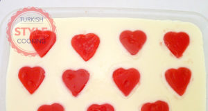 Pudding With Heart Shaped Fruit Filling Recipe