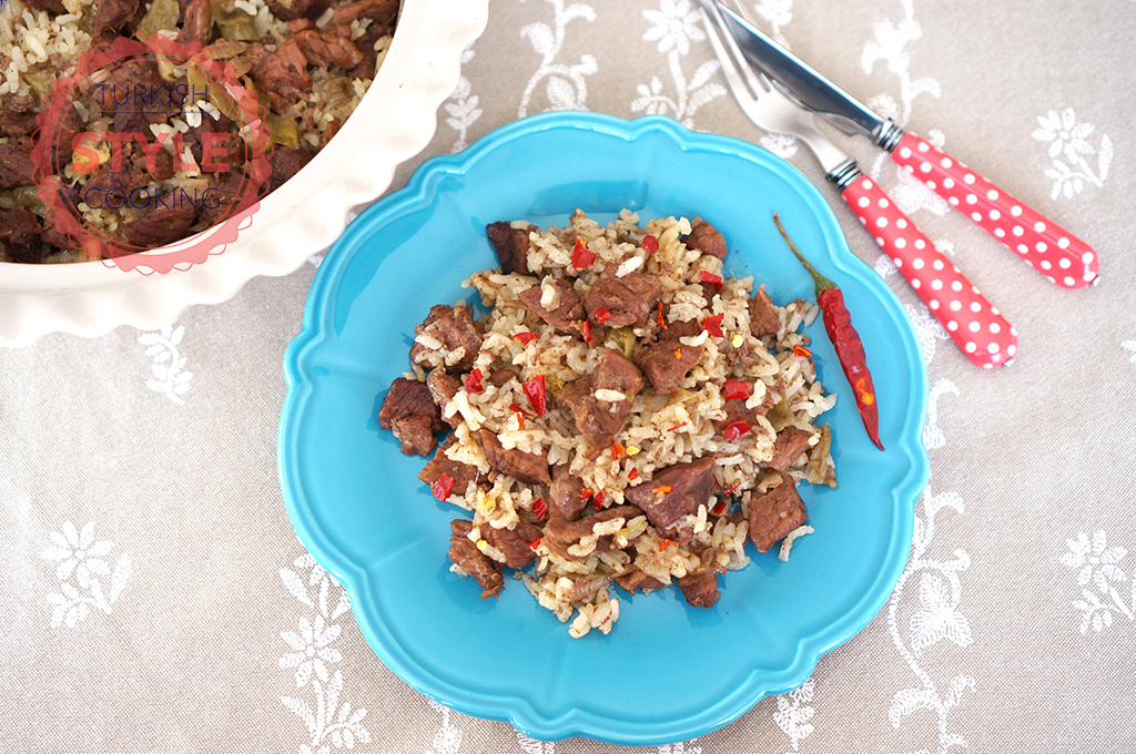 Baked Rice Pilaf With Meat Recipe