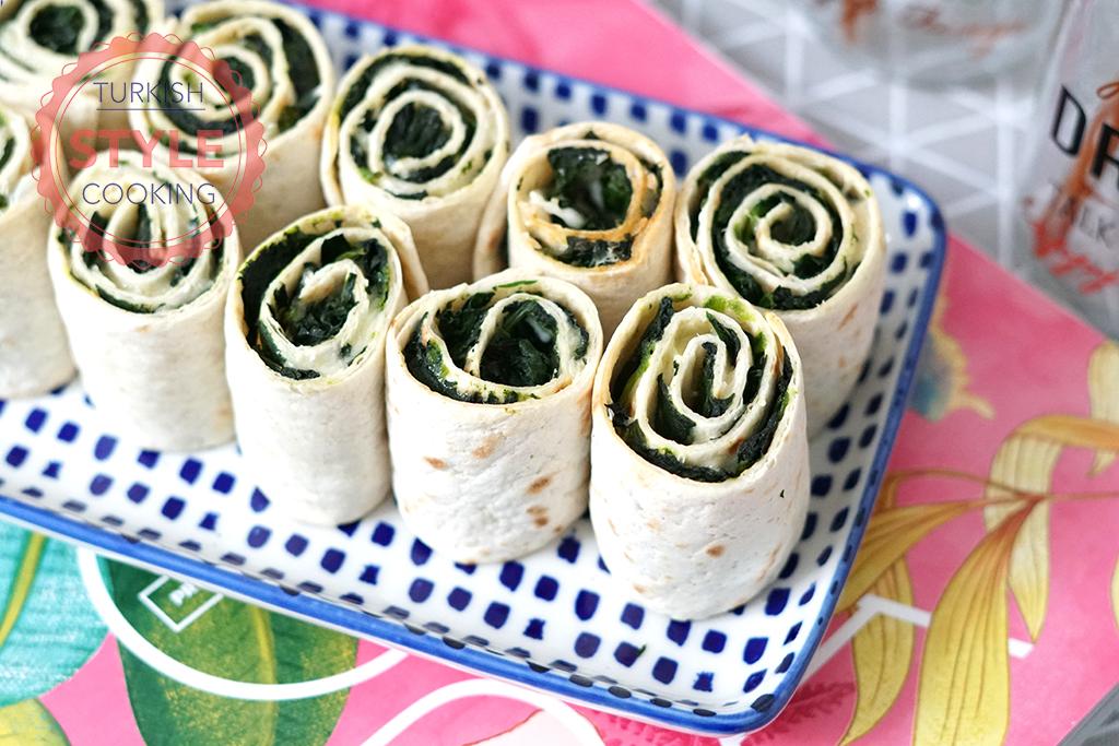 Spinach Tortilla Rolls