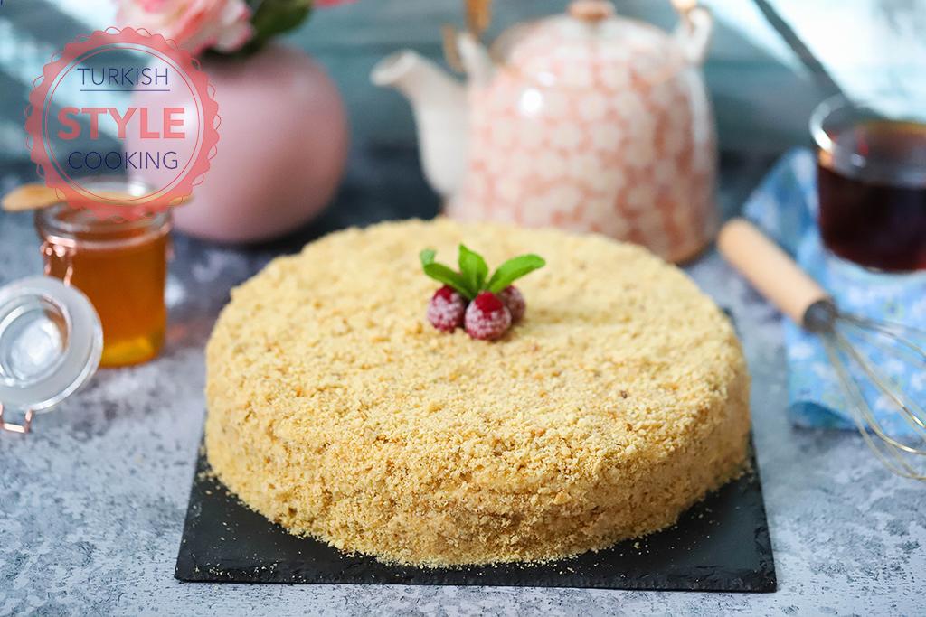 Russian Honey Cake Medovik Recipe Turkish Style Cooking
