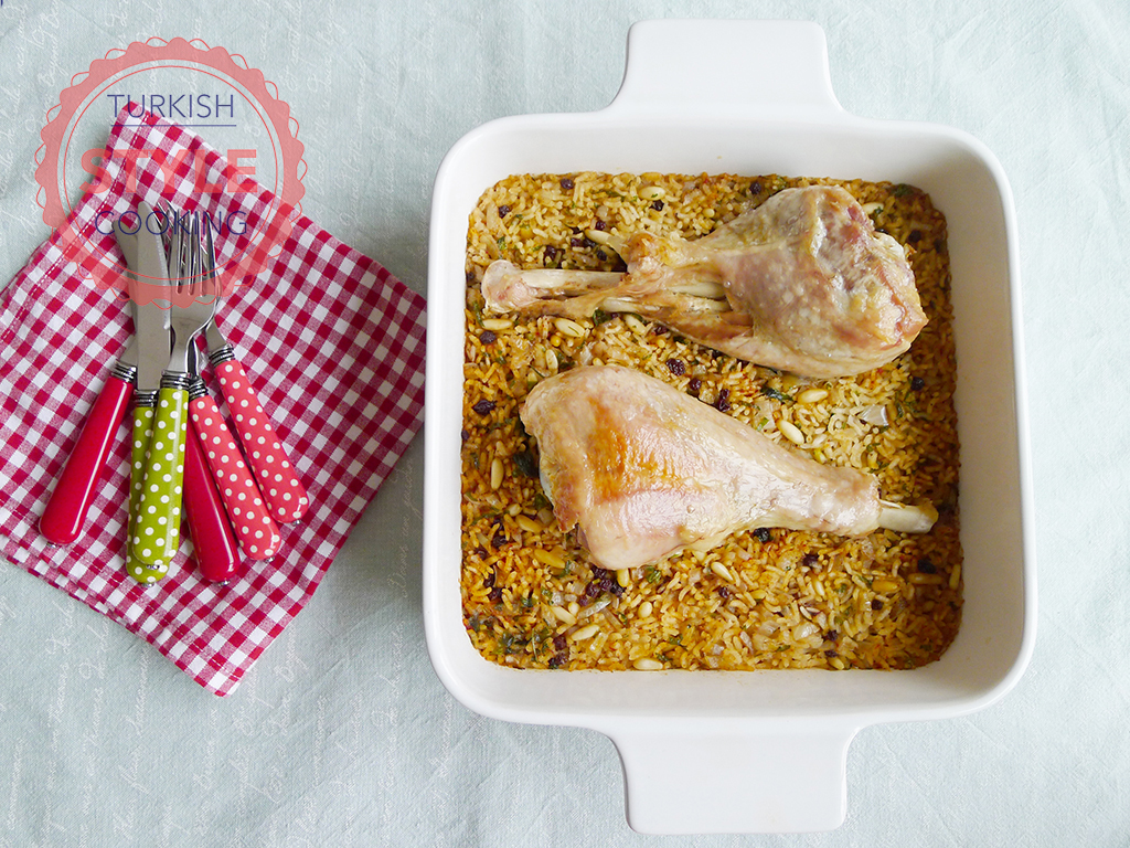 Turkey Drumstick With Pilaf Recipe