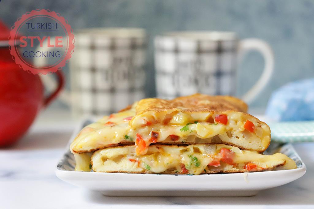 Potato And Pepper Omelette Recipe