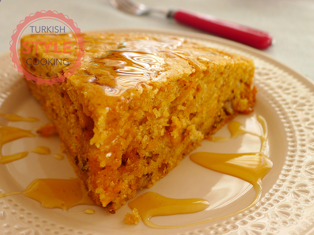 Carrot Cake with Honey Sauce Recipe