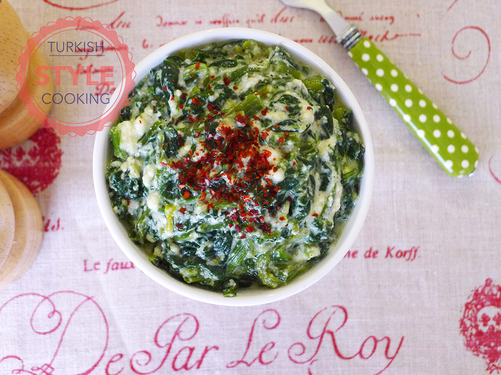 Spinach with Curd Cheese Recipe