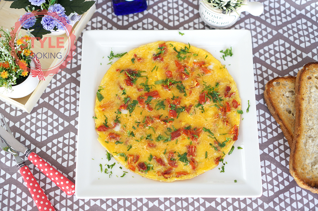 Dried Tomatoes Omelette Recipe