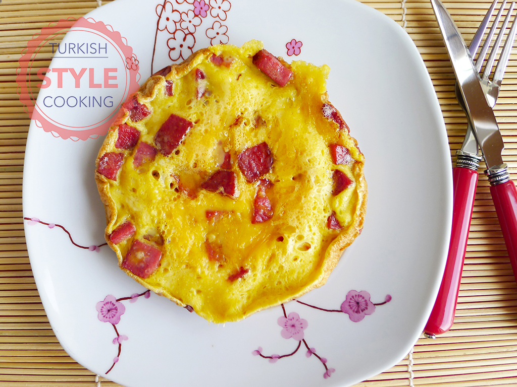 Salami Omelette Recipe