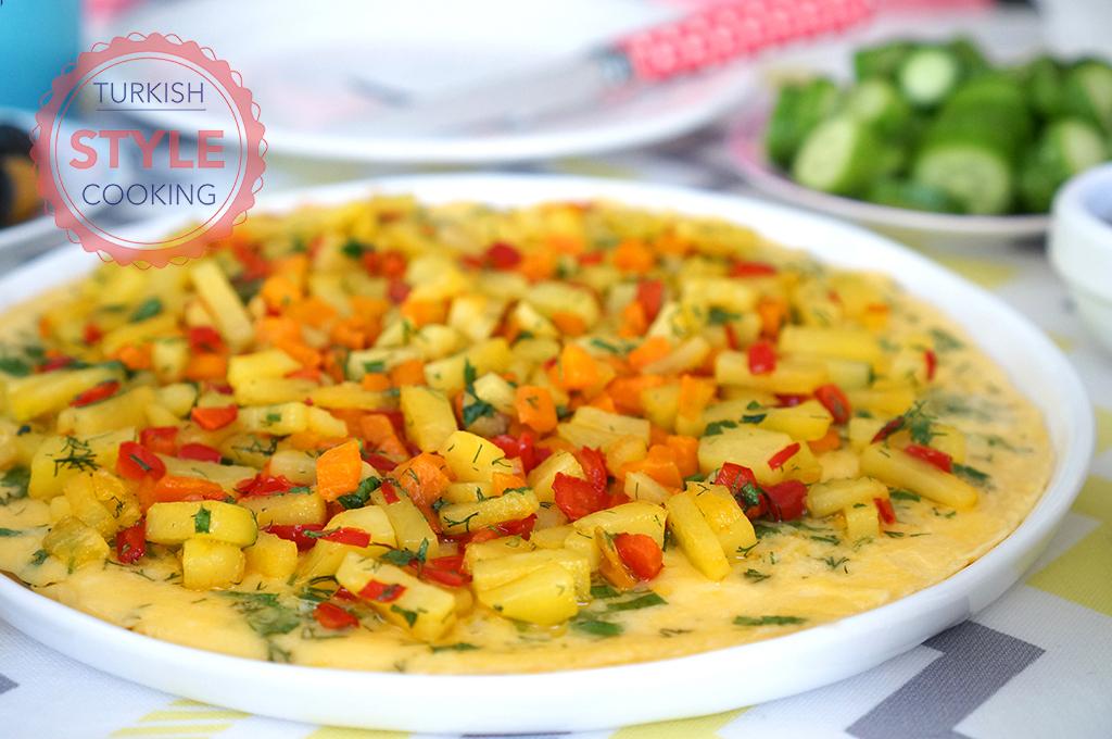 Vegetable Omelette Recipe