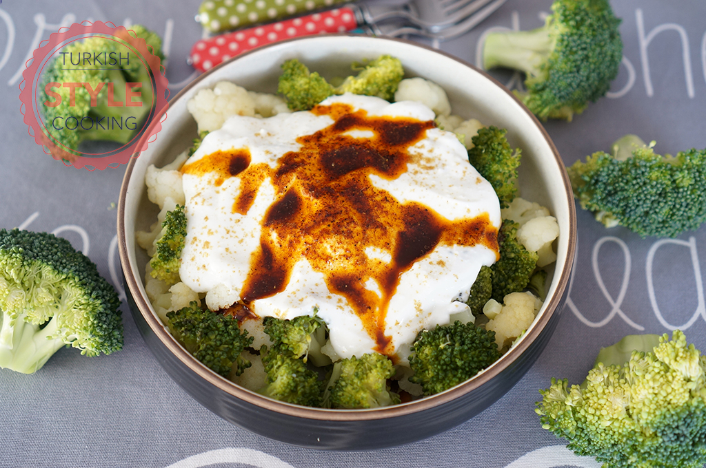 Cauliflower and Broccoli With Yoghurt Sauce Recipe