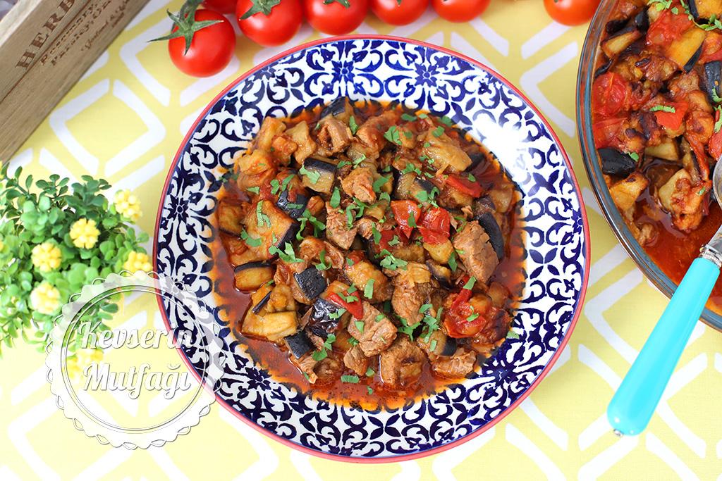 Baked Eggplant Kebab With Beef