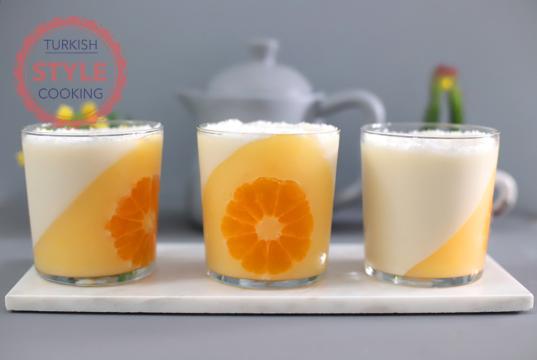 Mandarin Jello With Vanilla Pudding