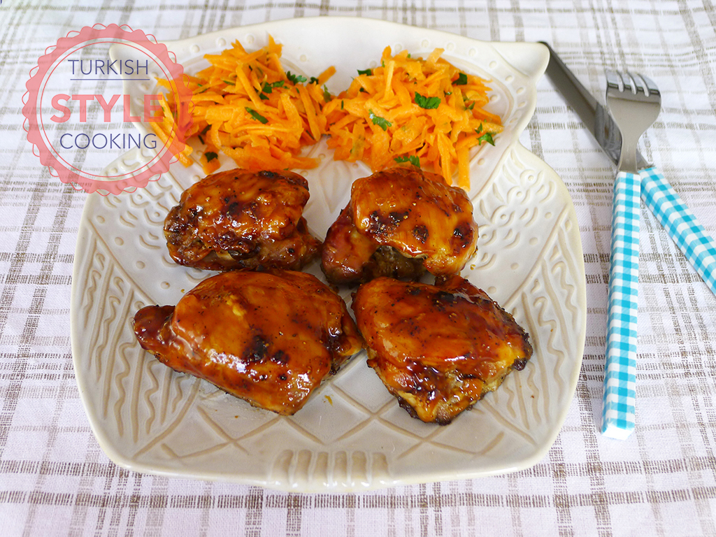 Sticky Chicken Thighs with Lemon and Honey
