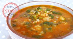 Purslane Dish With Chickpea And Bulghur