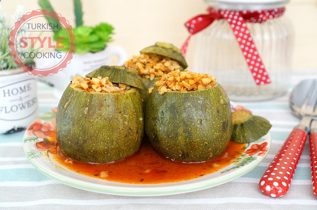 Stuffed Round Zucchini (Dolma) Recipe