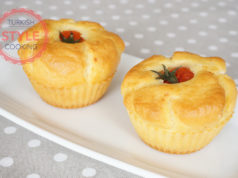 Savory Muffins With Tomato Topping