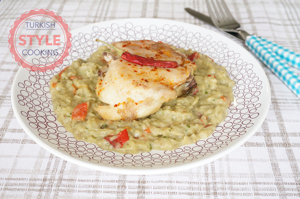 Eggplant Pesto Puree With Chicken Recipe