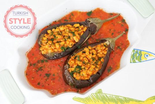 Diet Chicken Karniyarik Recipe