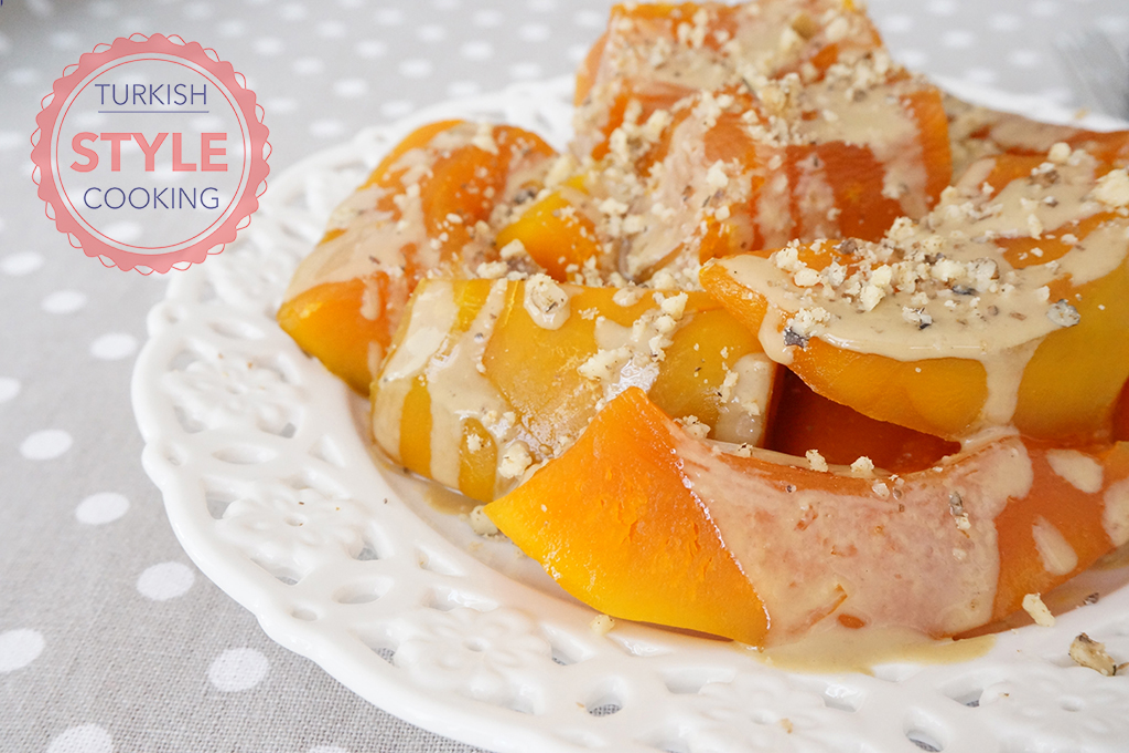 Turkish Pumpkin Dessert With Tahini