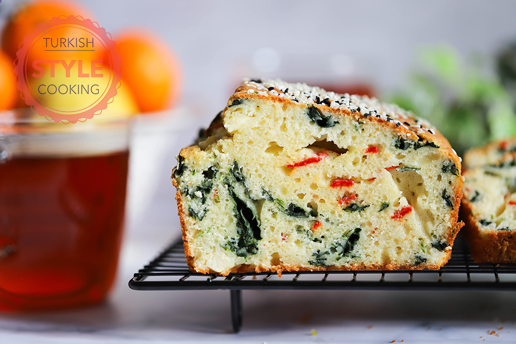 Savory Loaf Cake With Spinach