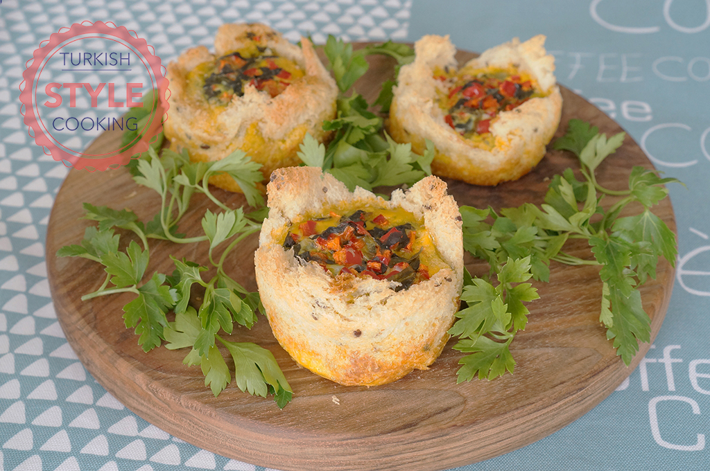 Spinach Omelette Cups