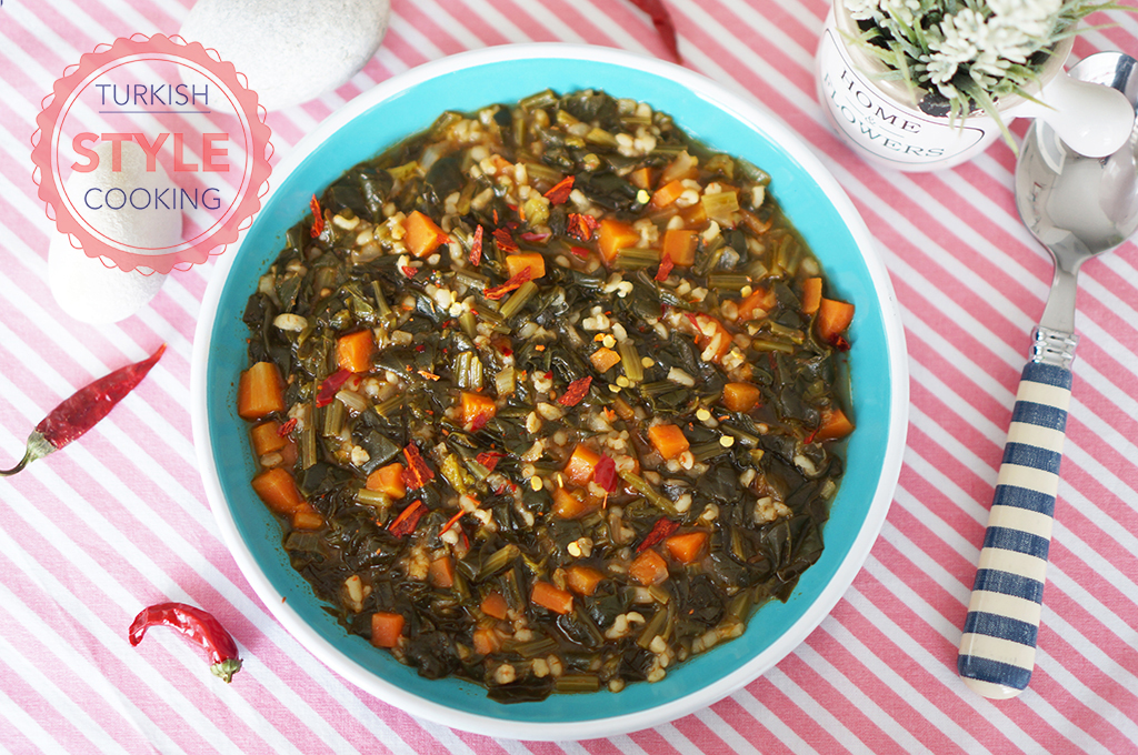 Spinach With Bulghur Wheat