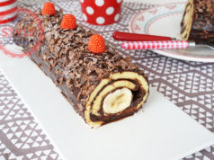 Chocolate Banana Roll Cake Recipe