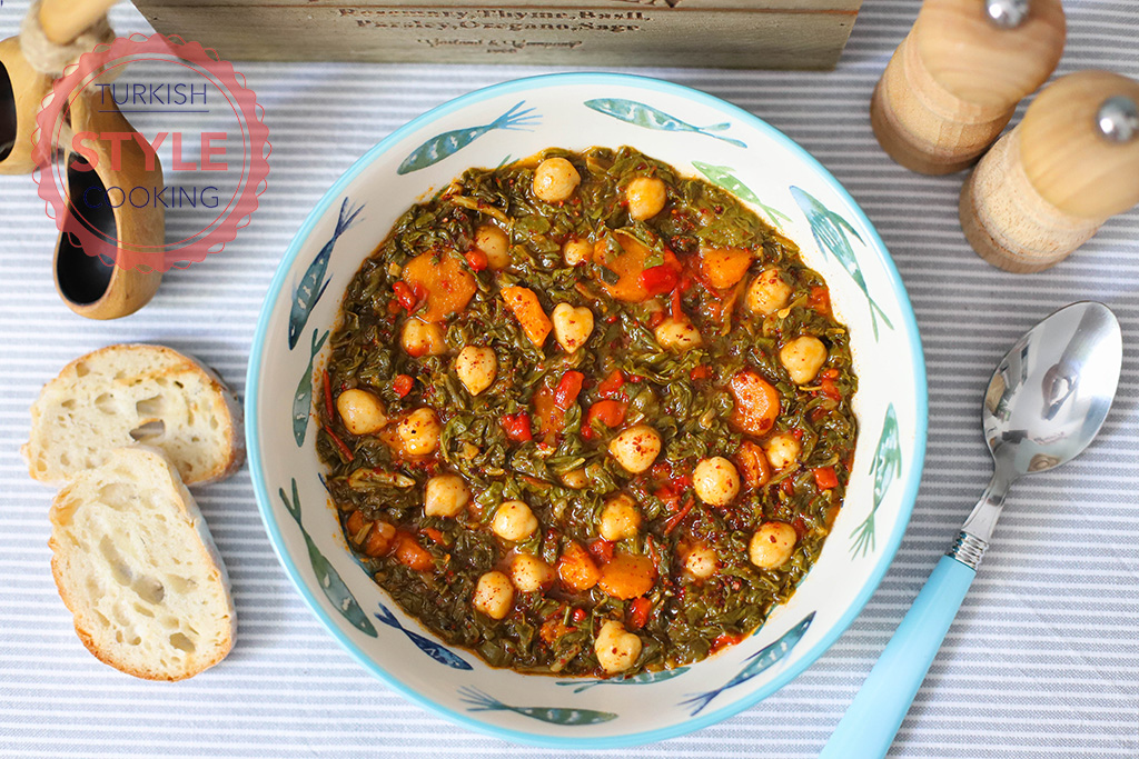 Sauteed Swiss Chard With Chickpeas
