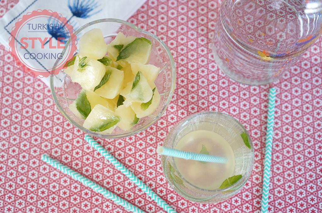Frozen Lemonade Cubes