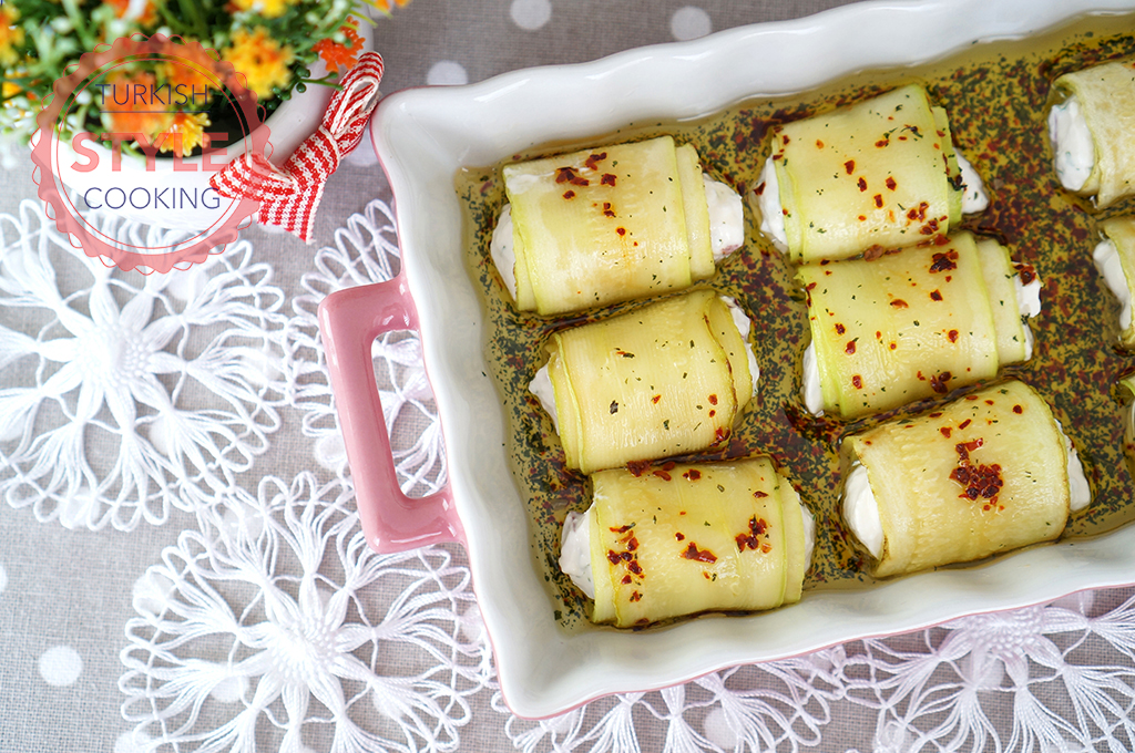 Zucchini Rolls With Cream Cheese