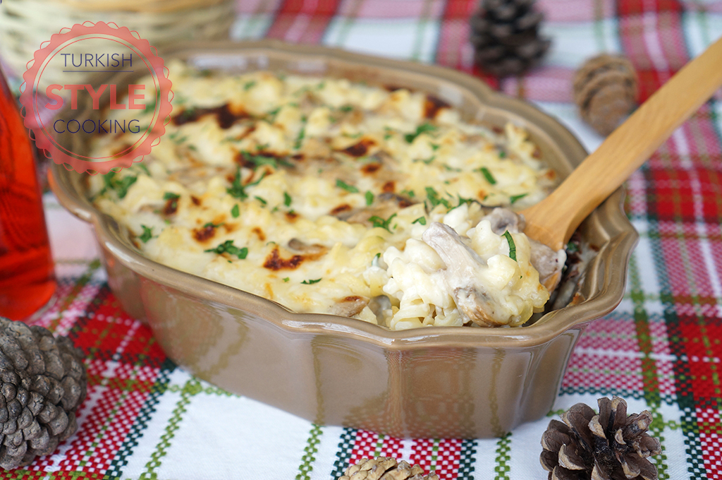 Baked Mushroom Macaroni Recipe