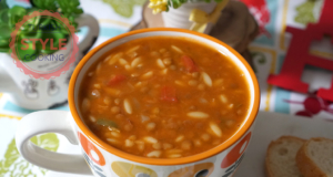 Green Lentil Soup With Orzo