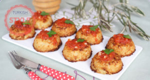 Baked Cauliflower Patties With Tomato Sauce