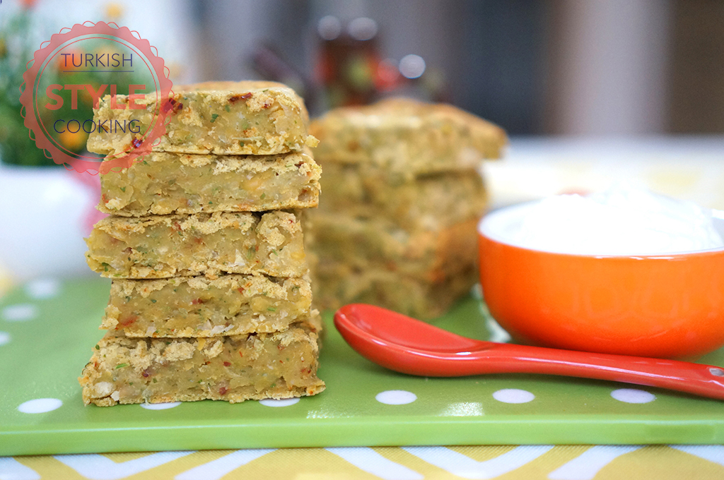 Baked Falafel Bars Recipe