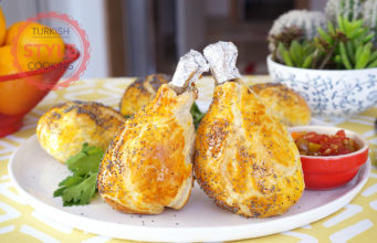 Chicken Drumsticks Covered in Puff Dough