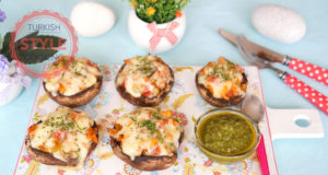 Chicken Stuffed Baked Mushroom Recipe
