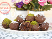 Chocolate Glazed Cake Truffles