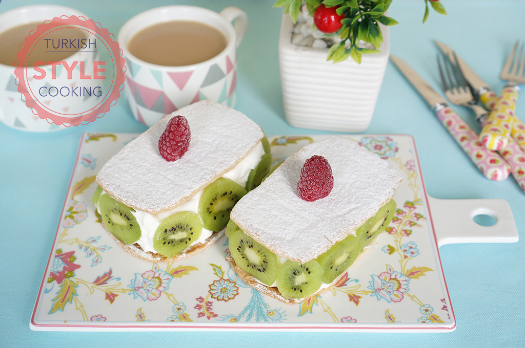Puff Pastry Dessert With Kiwi Recipe