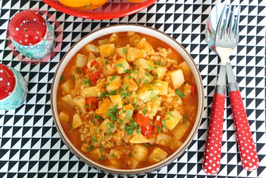 Celery Root Casserole With Bulgur Recipe