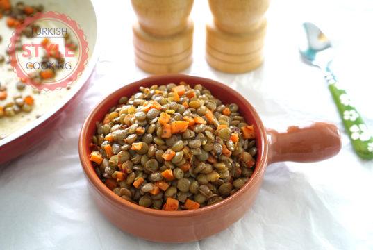 Sauteed Green Lentil Recipe