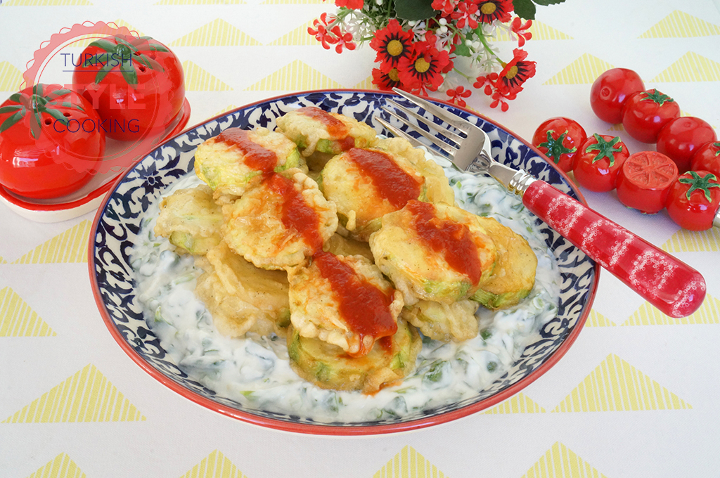 Tempura Zucchini With Purslane Salad