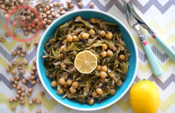 Spinach Roots With Chickpeas Recipe