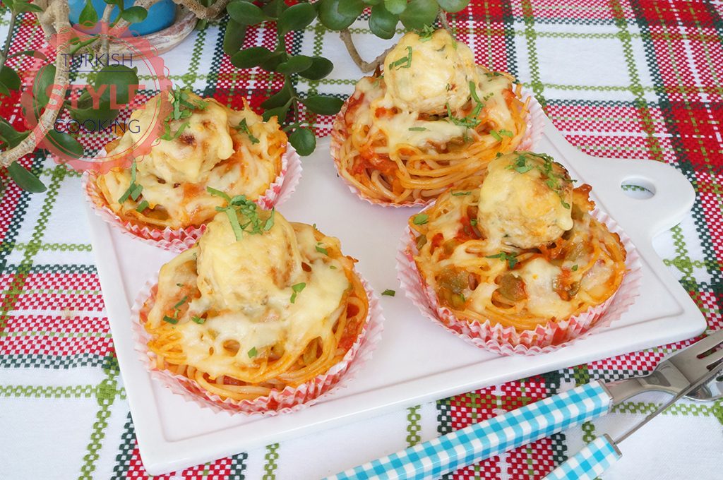 Baked Chicken Meatball Spaghetti Recipe