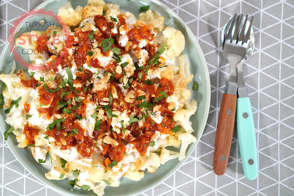Cauliflower With Yogurt and Tomato Sauce